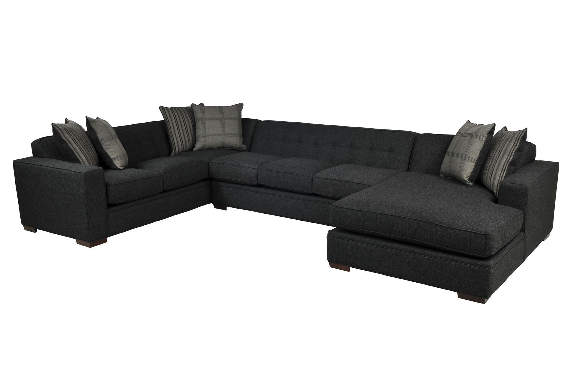 Costello 3 Piece Sectional - love this dark slate color and the fact that there's room for 2 adults to REALLY stretch out and get comfortable.