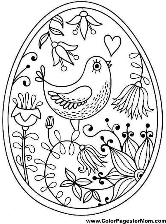 Easy spring coloring page.   Bird coloring pages, Easter ...