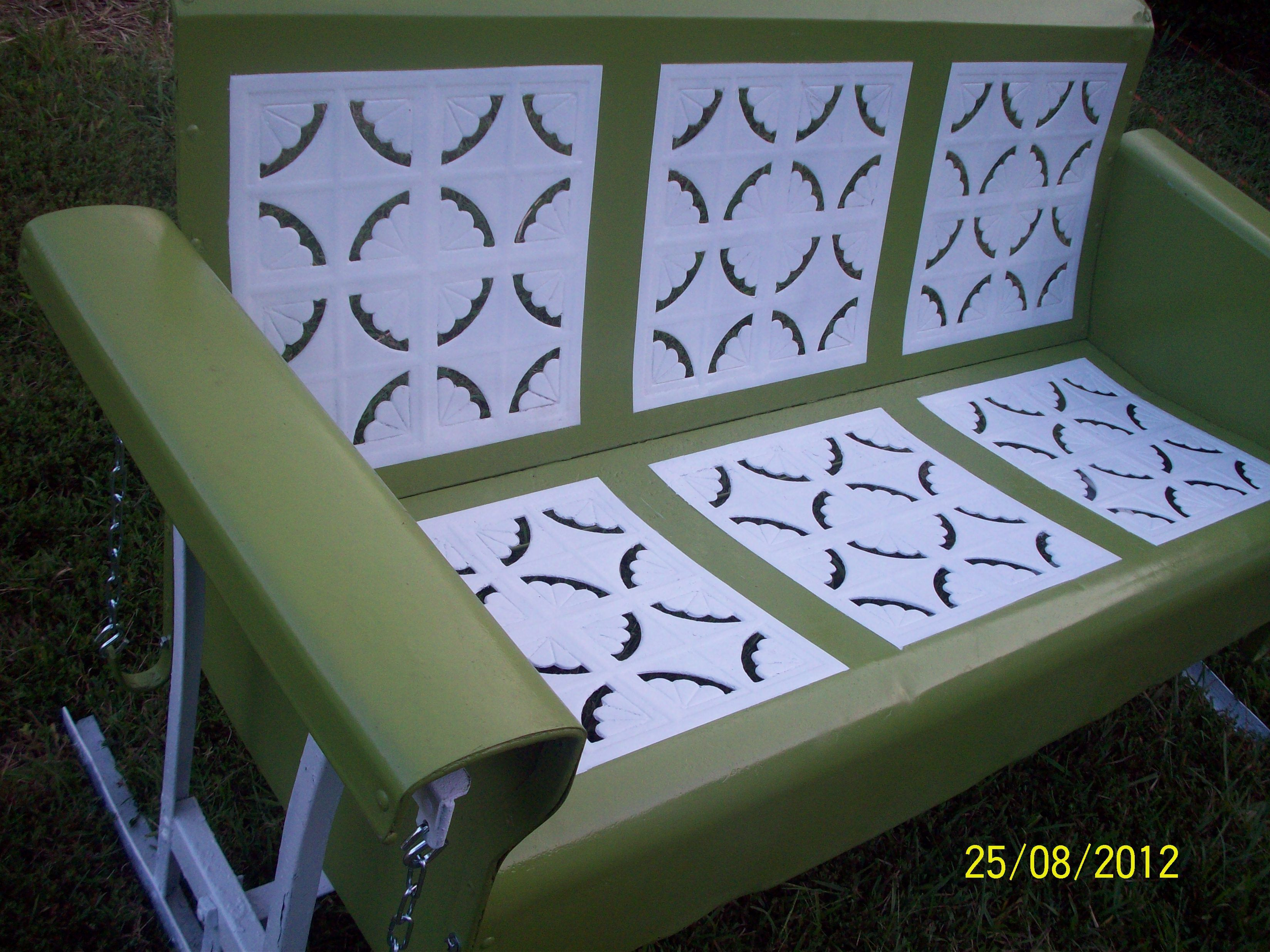 Just Finished It And Finally Decided Its Going On The Front Porch Vintage Metal Glider