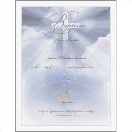 BlueCrossWater Baptism Certificate  AmazonCom