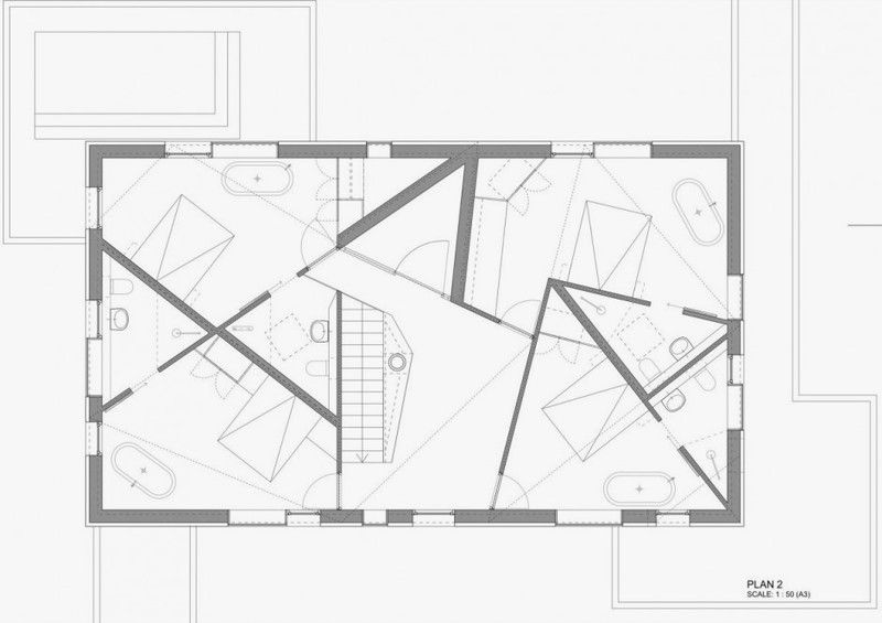 Unusual Floor Plans Second Floor Plan Of Unique House With Glass