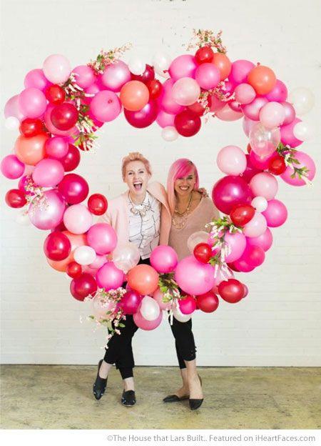 Giant Heart Balloon Wreath Easy DIY Photo Props For