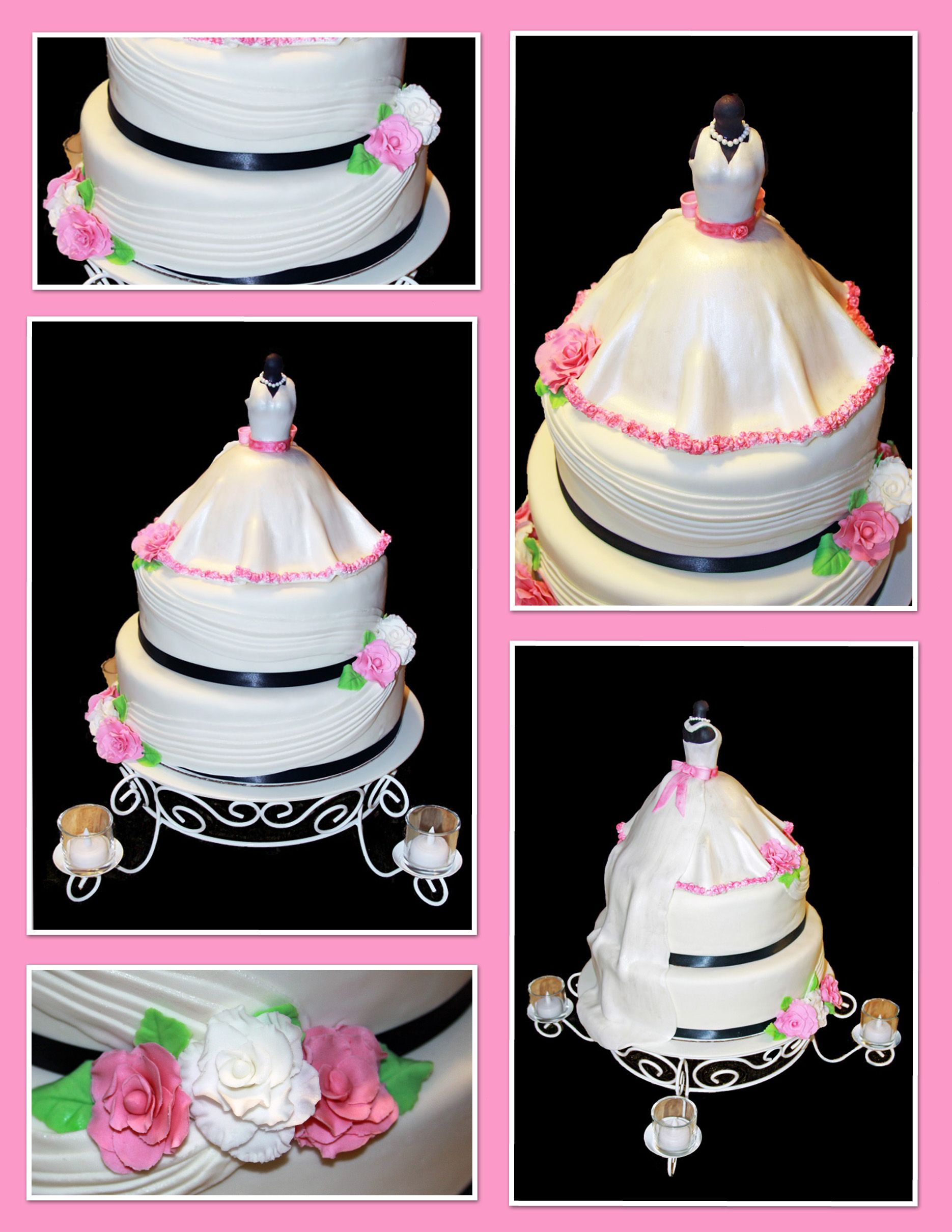 Wedding gown bridal shower cake sweet celebrations by