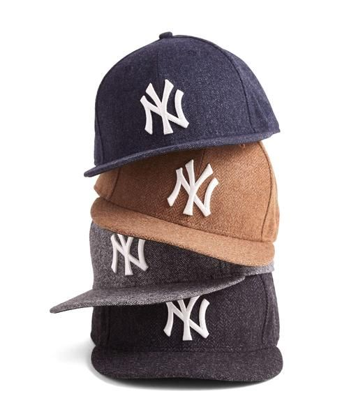 3f8b6822eb74b Todd Snyder - New Era Yankees Fitted Hat in Abraham Moon Charcoal  Herringbone Wool  68