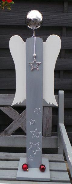 Wohndekoration - Engel - stehend ca. 95 cm - ein Designerstück von Heckel-Kreativ bei DaWanda