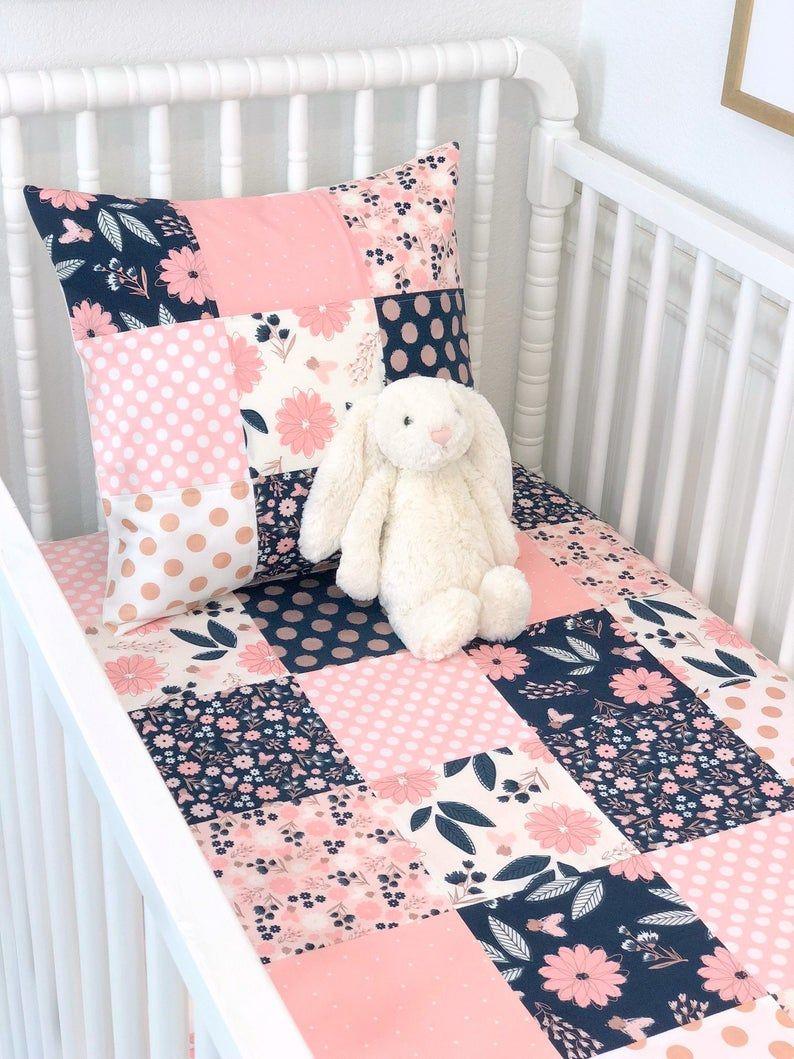 Baby Girl Blanket Crib Bedding Floral Nursery Decor Blush Etsy Nursery Decor Girl Floral Nursery Decor Girl Blankets