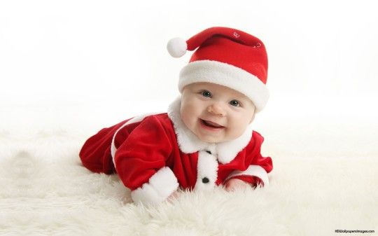 Baby Santa Claus 540x337 Cute Babies Christmas Dresses For
