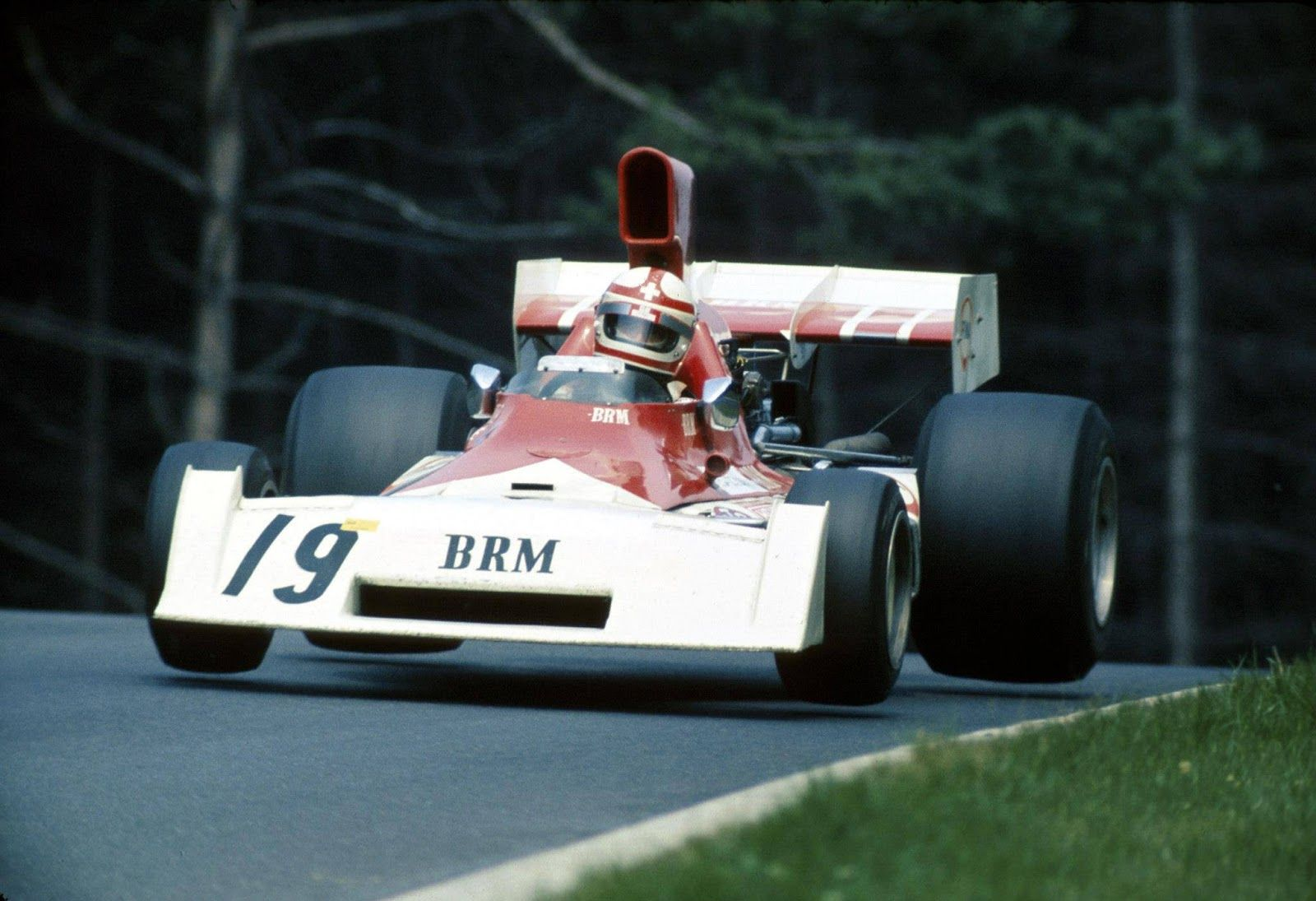 Clay Regazzoni 1973, this time in a BRM (qualifying: 7:18,2)