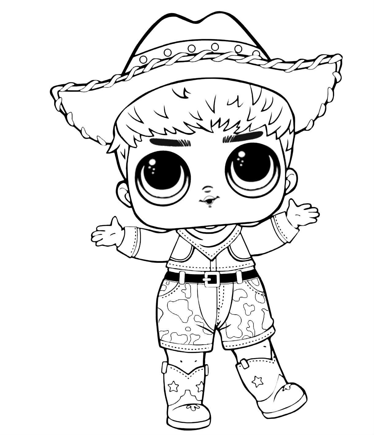 Lol Surprise Boy Doll Coloring Pages Frozen Coloring Pages
