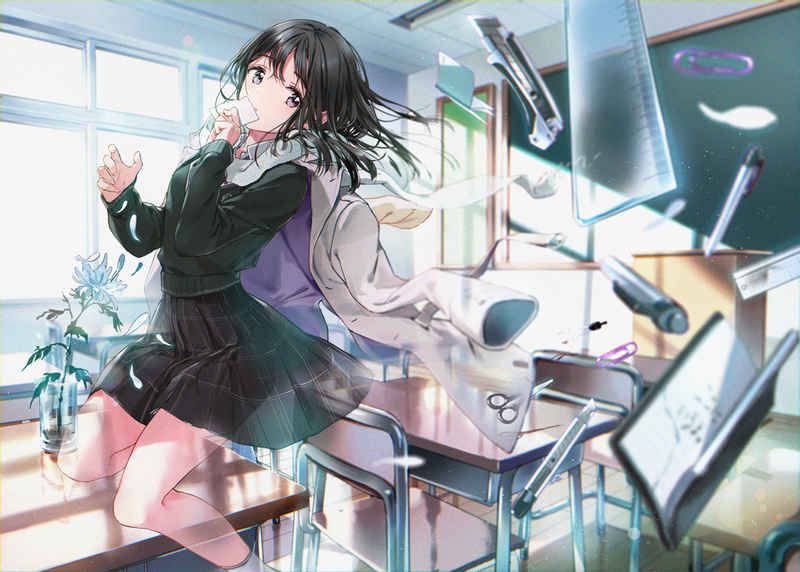 anime doujinshi criation girls illustration book