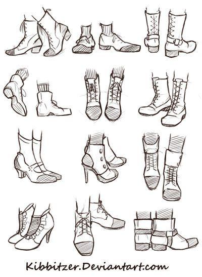Shoes Reference Sheet By Kibbitzer Deviantart Com On