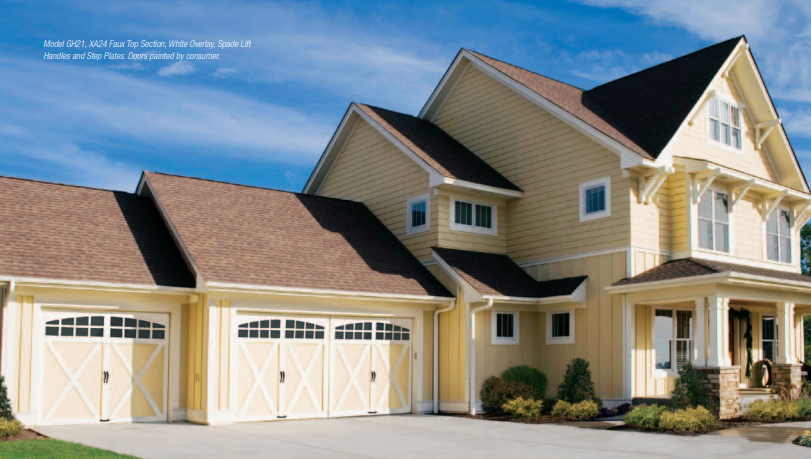 Through A Wide Range Of Models And Colors Action Automatic Door And Gate Garage Doors Integrate E House Styles Residential Garage Doors Garage Doors For Sale