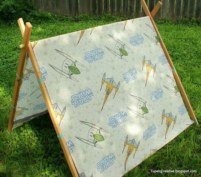 DIY Simple Kid's Tent | Tupelo Creative