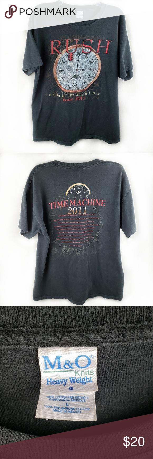 Rush Time Machine Tour T-Shirt Size L