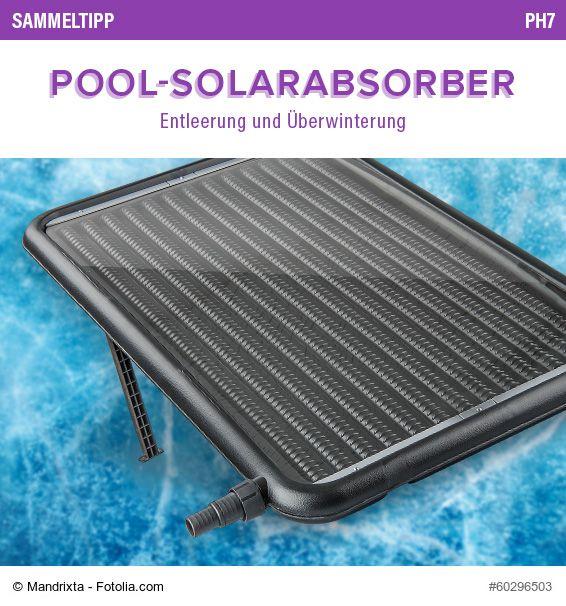 POOLSANA Sammeltipp Nr. 61: Pool-Solarabsorber - Entleerung und ...