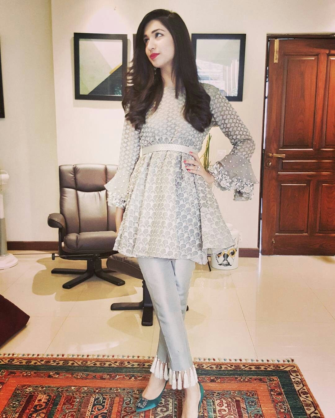Latest pakistani short frock dress
