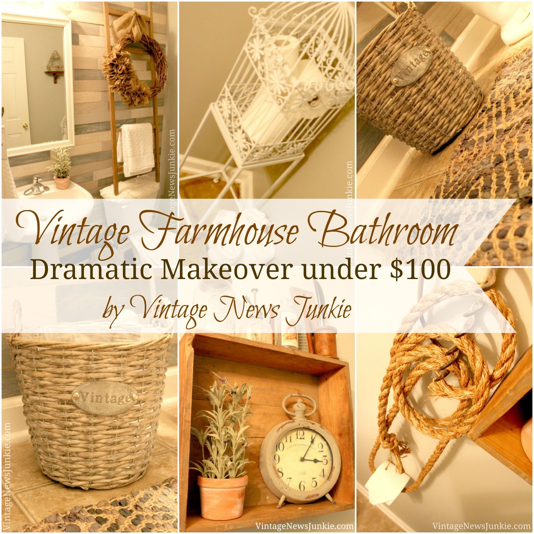 Bathroom Makeovers Wa vintage farmhouse bathroom makeover under $100vintage news