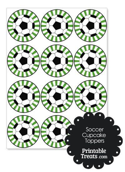 Green Sunburst Soccer Cupcake Toppers In 2020 Soccer Cupcakes Soccer Birthday Parties Soccer Birthday
