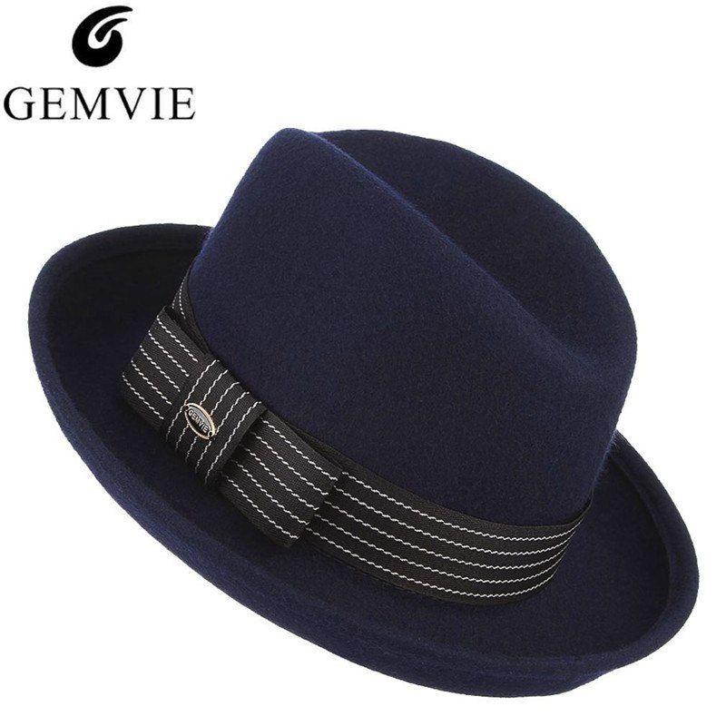 2018 High-Grade Fedora Hat Retro European Style Men Fedora Hat 100% Wool  Felt a6ca5cf0ff4