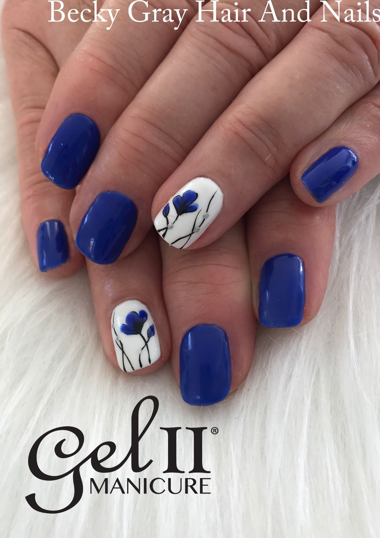 Gel ii manicure Caribbean vibe and hand painted nail art #gelii ...