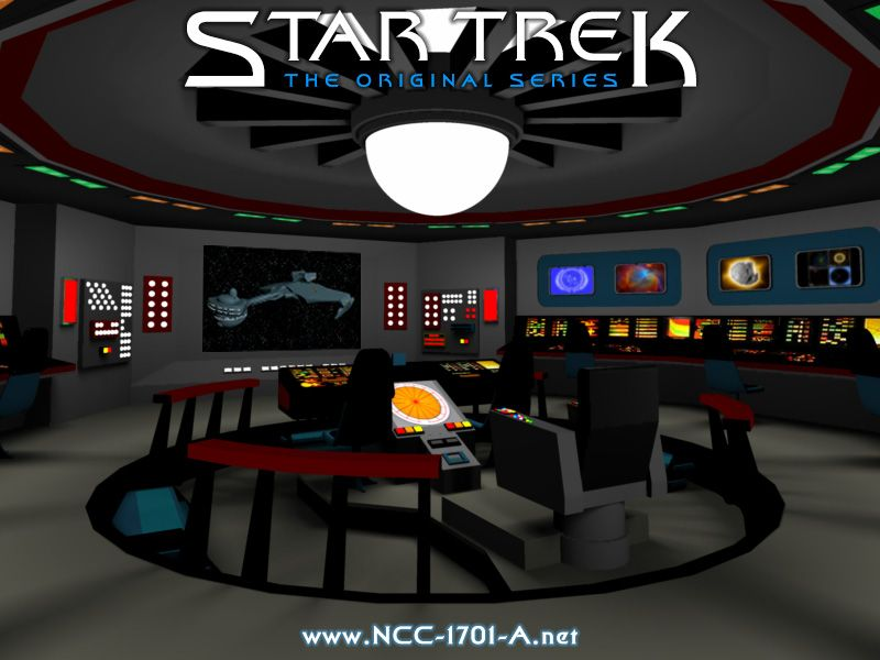 The brdige of the USS Enterprise NCC1701 To Boldly Go Where