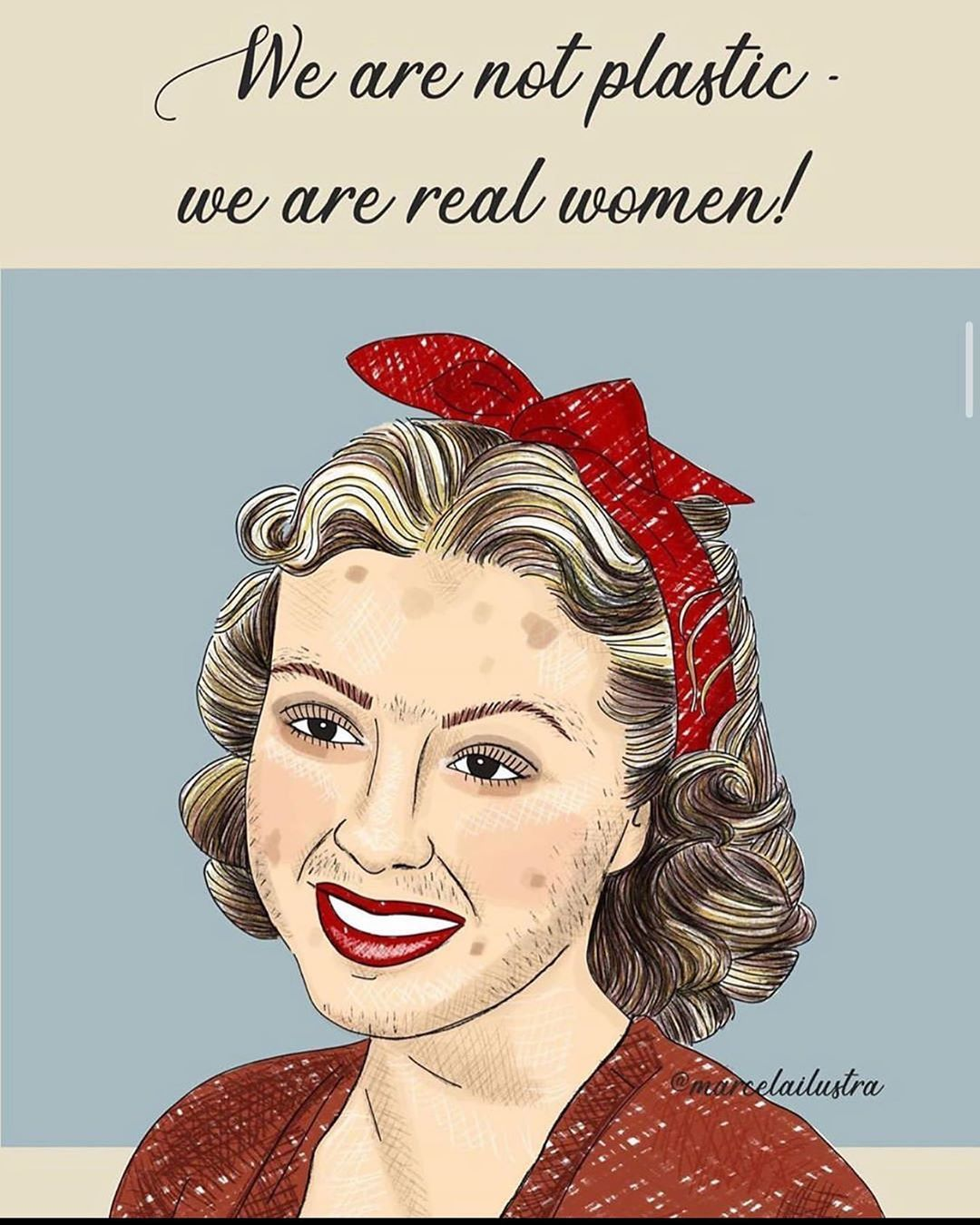 We are not plastic we are real women !!! | Real women, Tech women, Women stories