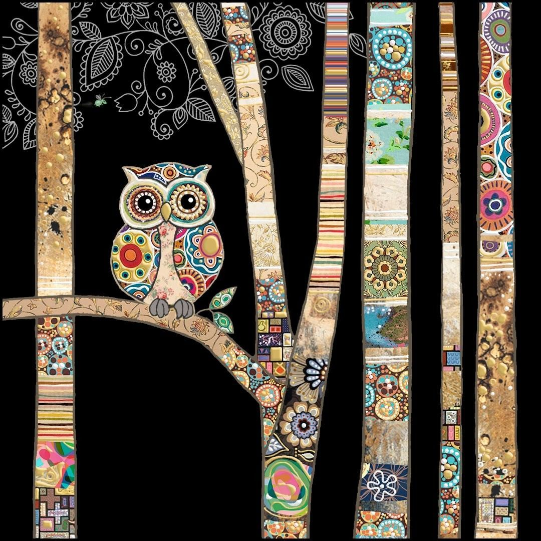 Bug Art Medium Gift Bag Decorative Owl