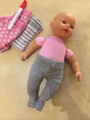 Nähen Sie doch mal eine Puppenstrumpfhose aus alten Socken #ponchodress