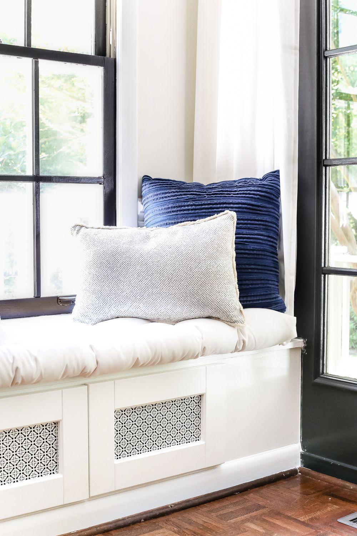 Entryway window ideas  diy window seat from a kitchen cabinet  craft ideasdiy projects
