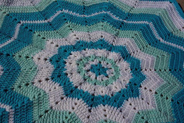 Beginners Round Ripple Blanket Pattern Crochet Blanket