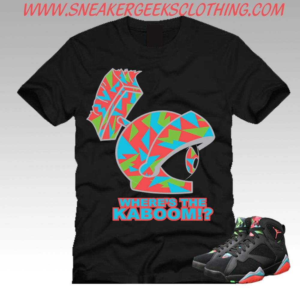 Air Jordan Vii Gs Marvin Les T-shirts Martiens