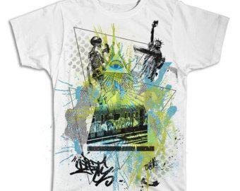 Spray City Graffiti Collage T Shirt