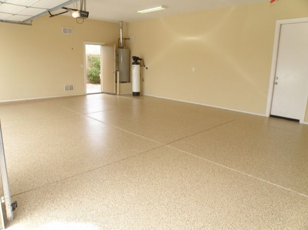 basics clean epoxy floor and paint in neutral warm colors