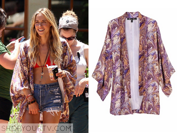 90210: SEASON 3 EPISODE 1 IVY'S PAISLEY KIMONO JACKET Posted on ...