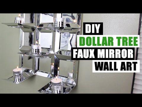 Diy Dollar Tree Faux Mirror Wall Art Candle Holder Easy Z