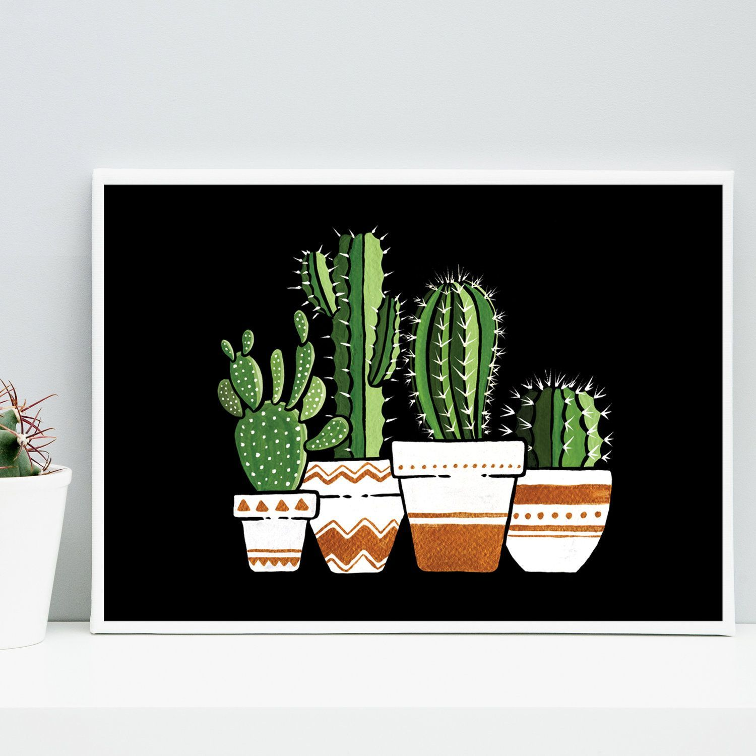 Photo of Cactus In The Night | Signed Art Print | Boelter Design Co.