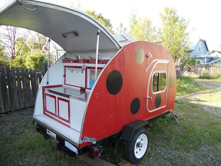 ladybug teadrop trailer lydiamcelroy5 travel pinterest teardrop trailer teardrop trailer. Black Bedroom Furniture Sets. Home Design Ideas