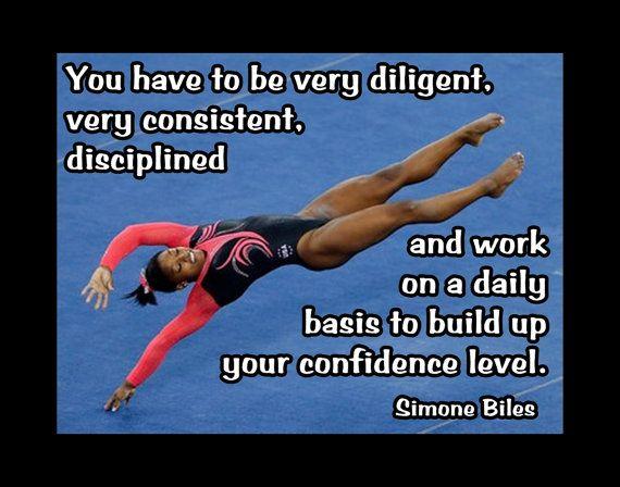 Gymnastics Poster Simone Biles Gymnast Photo Quote Fan By