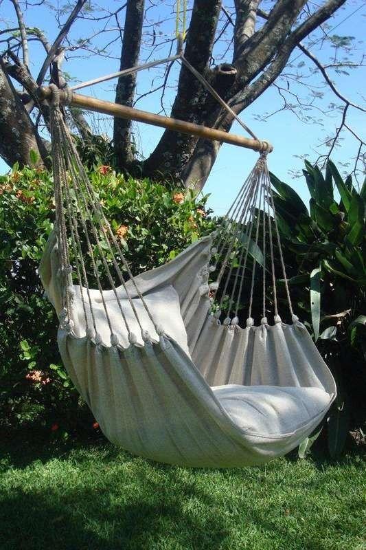 MacaMex SET Gestell Lazy mit Hängesessel Cayo Grande Natur in der - designer hangematte metall gestell