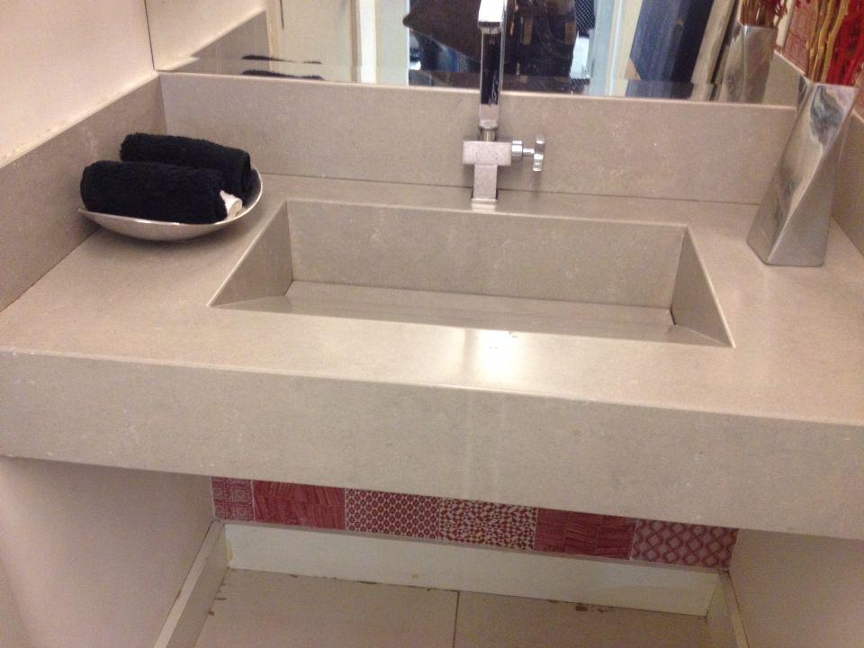 Pia porcelanato c cuba escavada  Revestimentos piso e parede  Pinterest -> Cuba De Pia De Banheiro Oval