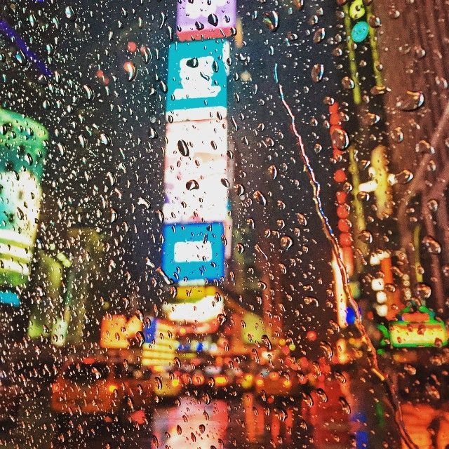 Rainy Times Square, #NewYork City. @trevormorrow on Instagram