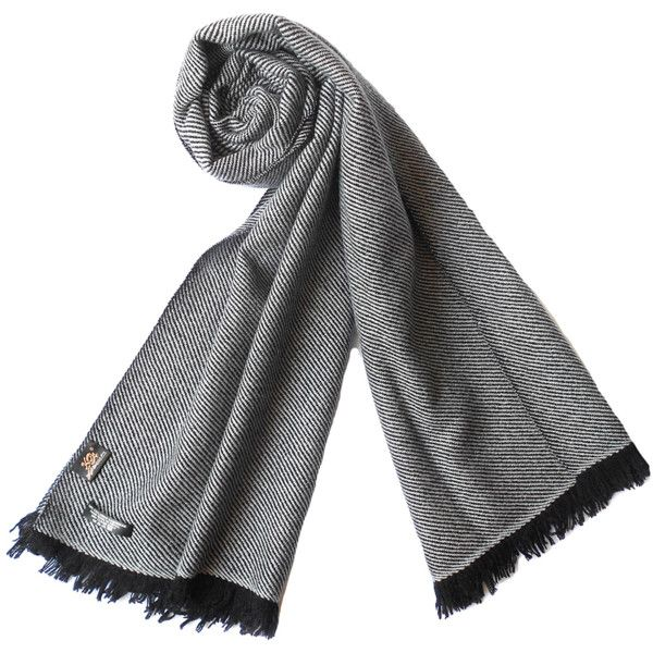 Plush Cashmere Black And Ivory Twill Weave Cashmere Stole (363729601) (€110) ❤ liked on Polyvore featuring accessories, scarves, black and ivory, long scarves, cashmere shawl, cashmere wrap shawl, oblong scarves and ivory shawl
