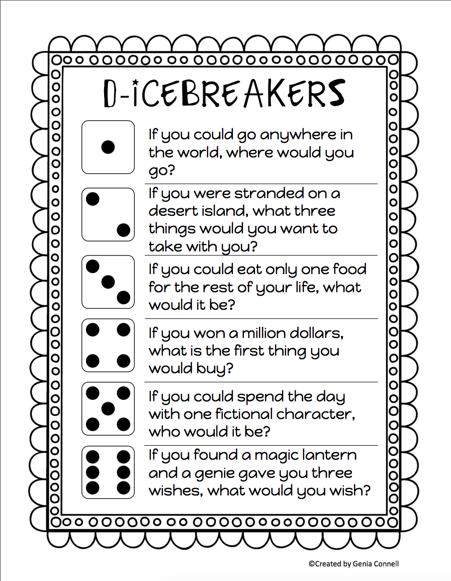 25 Fun Back-to-School Activities to Break the Ice for New Classes   First  day of school activities [ 1155 x 897 Pixel ]