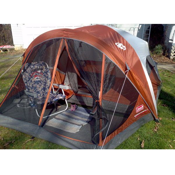 4-person tent with spacious interior WeatherTec System guaranteed to keep you dry Screened porch Strong Insta-Clip attachments add rigidity to wind-tested pole structure 15 minute set up