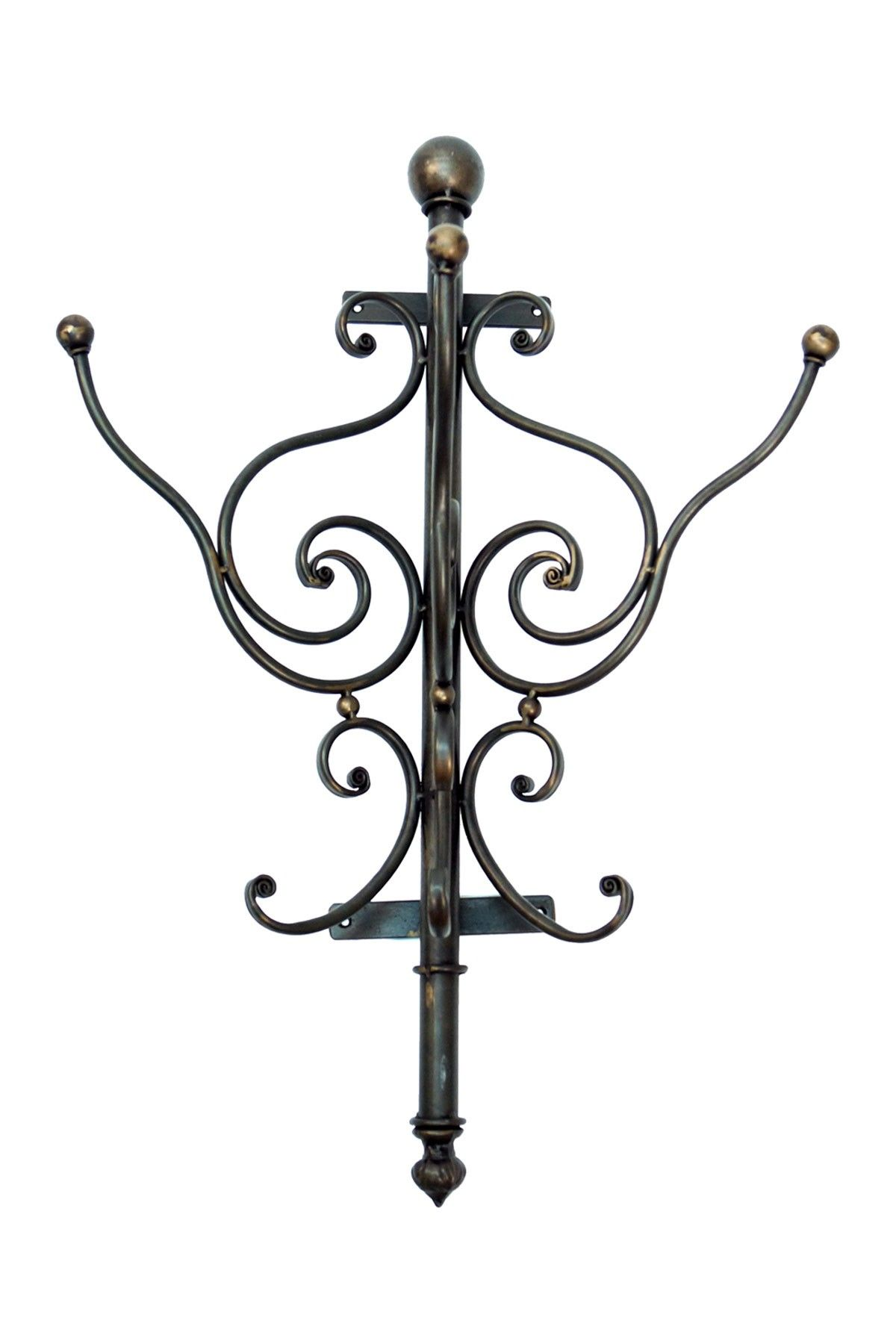 Mini Wall Mount Wrought Iron Coat Rack