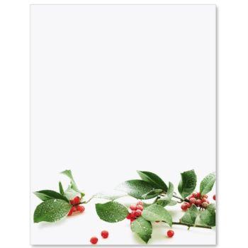 Holly Snow Letter Paper  Letterhead Paper