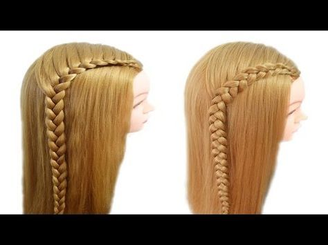 Peinados Faciles y Rapidos para pelo Chino - Coletas con Trenzas