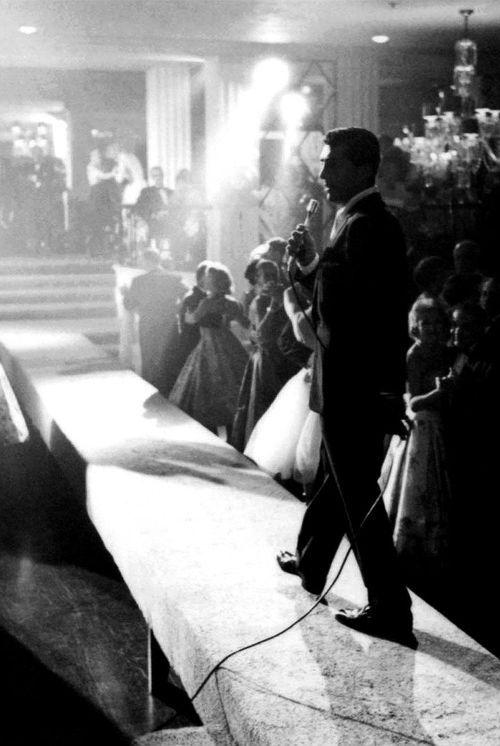 Dean on stage 1958