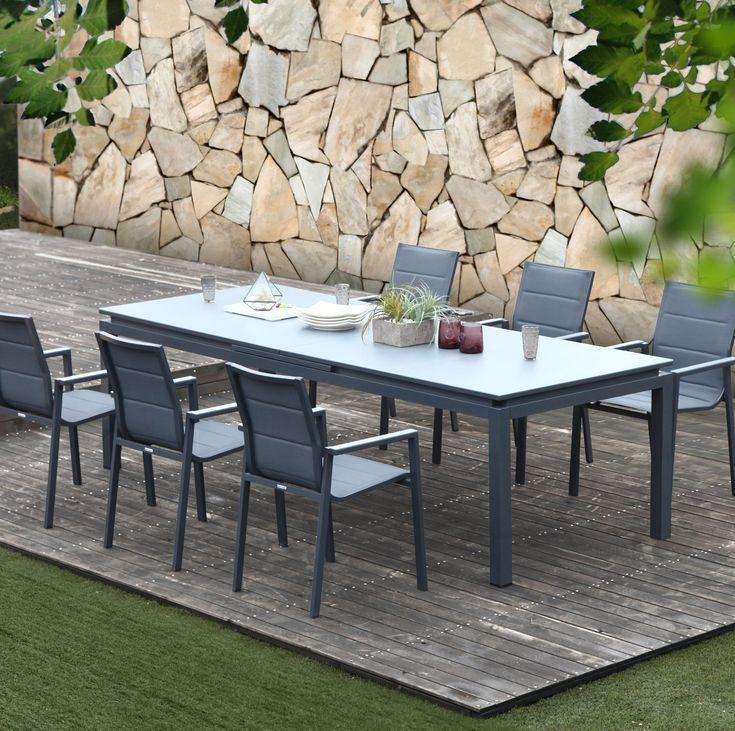 Table De Jardin De Repas Naterial Odyssea Rectangulaire Anthracite