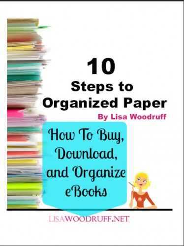 I LOVE this series she's doing - all about moving over to digital and getting rid of paper clutter!